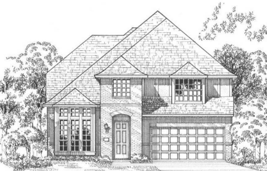 American Legend Plan 116 Elevation B in The Grove Frisco