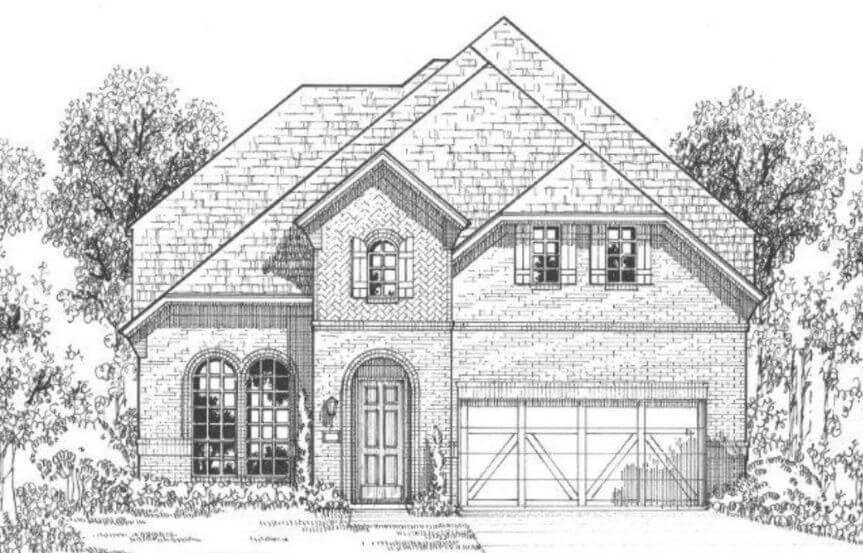 American Legend Plan 116 Elevation C in The Grove Frisco