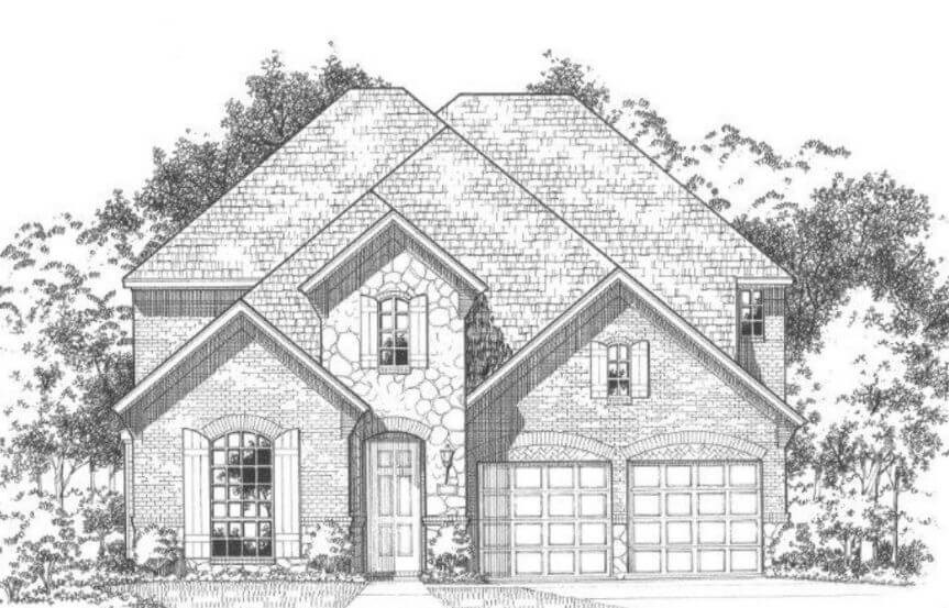 American Legend Plan 1118 Elevation C in The Grove Frisco