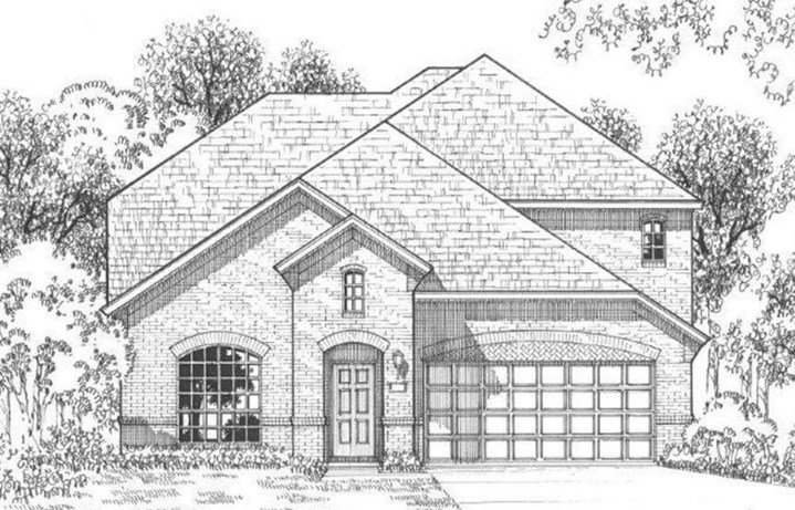 American Legend Plan 1157 Elevation A in The Grove Frisco