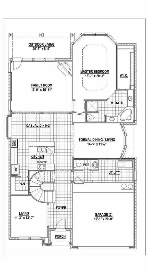 American Legend Plan 115 First Floor in The Grove Frisco