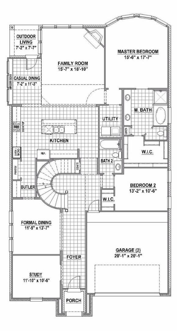 American Legend Plan 1118 First Floor in The Grove Frisco