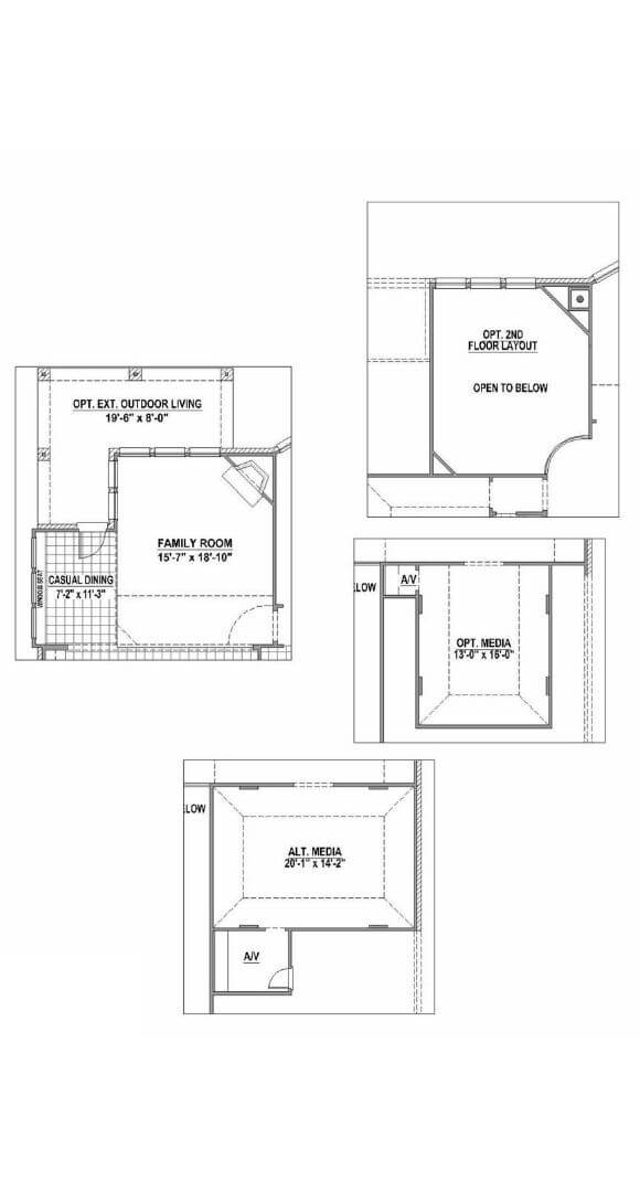 American Legend Plan 1118 Floorplan Options in The Grove Frisco