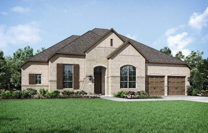 Highland Homes Plan 270 Elevation A in The Grove Frisco