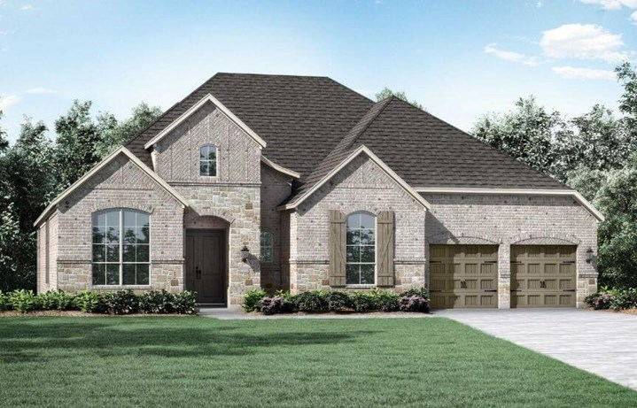 Highland Homes Plan 273 Elevation A in The Grove Frisco