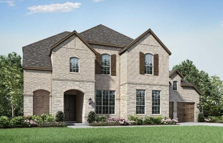 Highland Homes Plan 275 Elevation A in The Grove Frisco