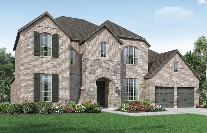 Highland Homes Plan 279 Elevation A in The Grove Frisco
