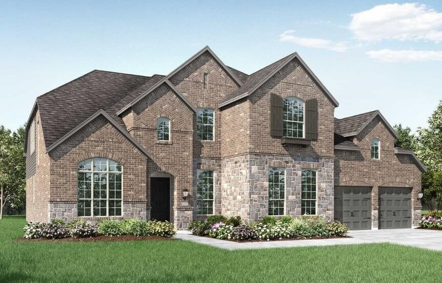 Highland Homes Plan 277 Elevation A in The Grove Frisco