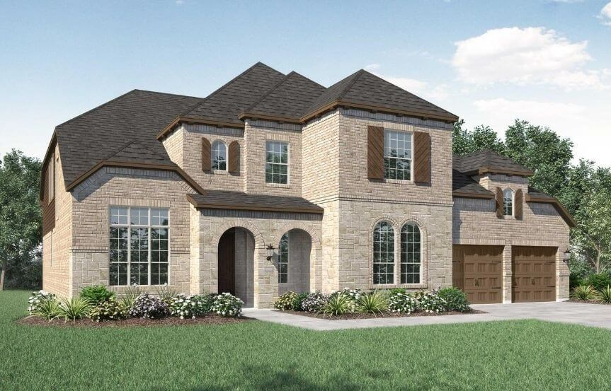 Highland Homes Plan 277 Elevation B in The Grove Frisco