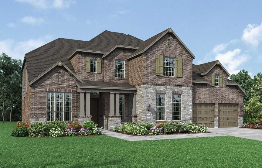 Highland Homes Plan 277 Elevation C in The Grove Frisco
