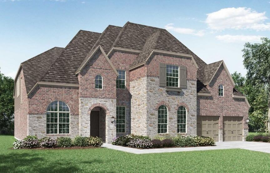 Highland Homes Plan 277 Elevation D in The Grove Frisco
