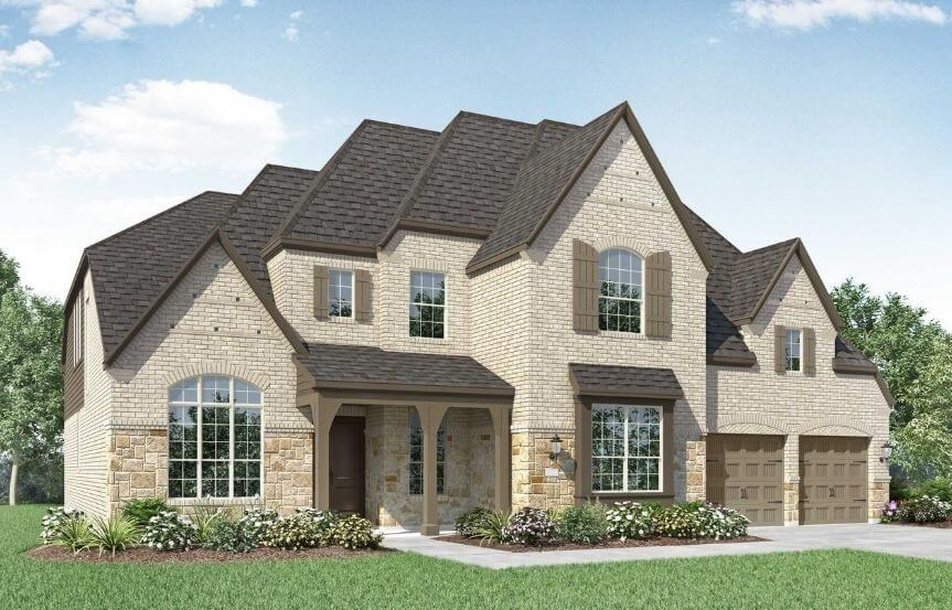 Highland Homes Plan 277 Elevation E in The Grove Frisco
