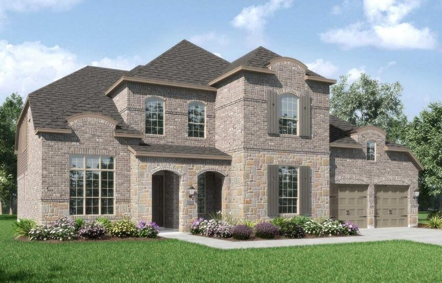 Highland Homes Plan 277 Elevation L in The Grove Frisco