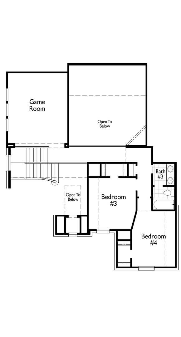 Highland Homes 277 Floorplan Second Floor in The Grove Frisco