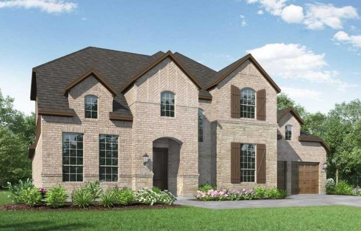 Highland Homes Plan 278 Elevation A in the Grove Frisco