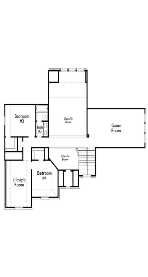 Highland Homes Second Floor 276 Floorplan in the Grove Frisco
