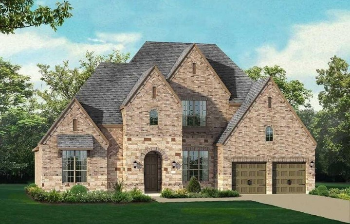 Highland Homes Elevation D Plan 297 in The Grove Frisco