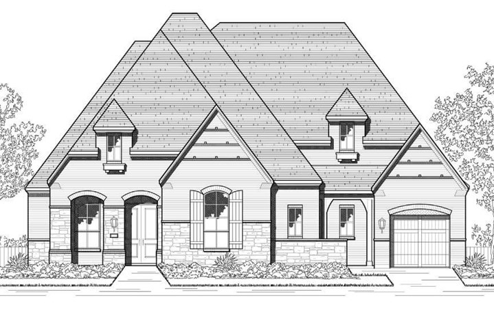 Elevation E 281 Plan Highland Homes in The Grove Frisco