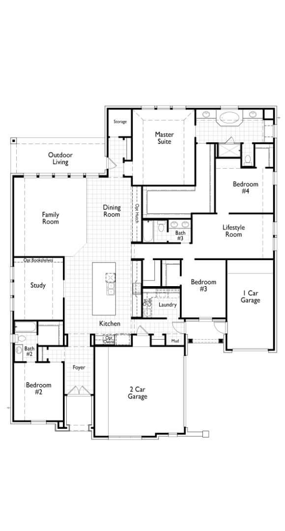 Plan 282 Floorplan Highland Homes in The Grove Frisco