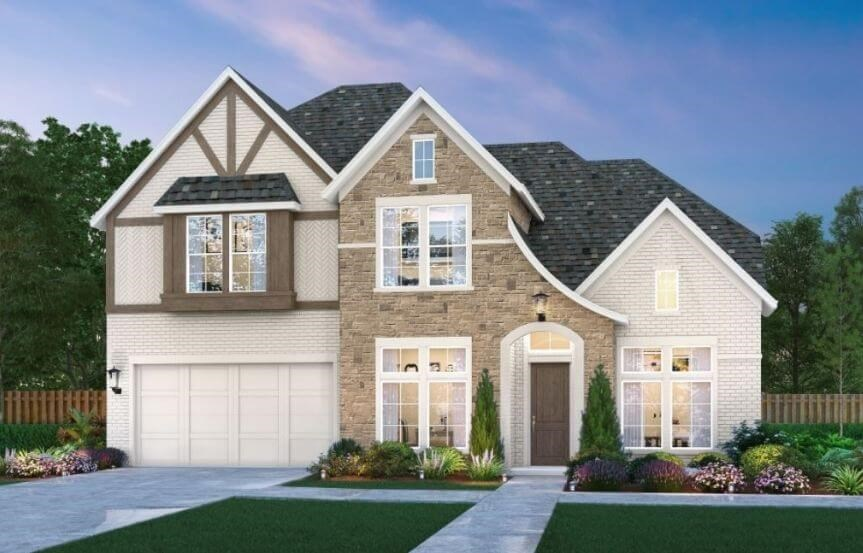 Shelby Elevation A by Southgate Homes at the Grove Frisco