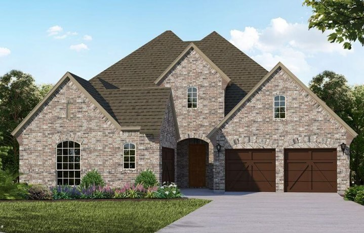 American Legend Plan 610 Elevation A in The Grove Frisco