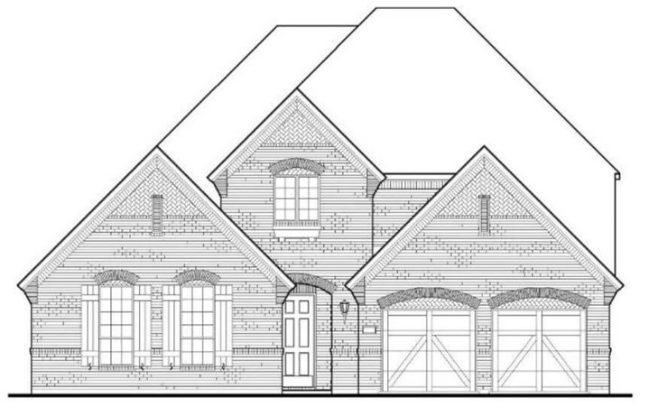 American Legend Plan 628 Elevation A in The Grove Frisco
